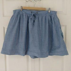Merona chambray mini skirt soft and cute size XXL
